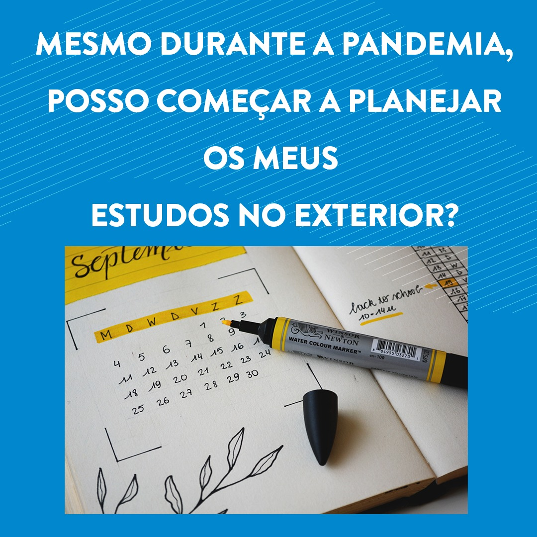 Planejar intercâmbio na Pandemia